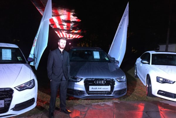 Showing off the beautiful new Audi models at the Gold Coast launch